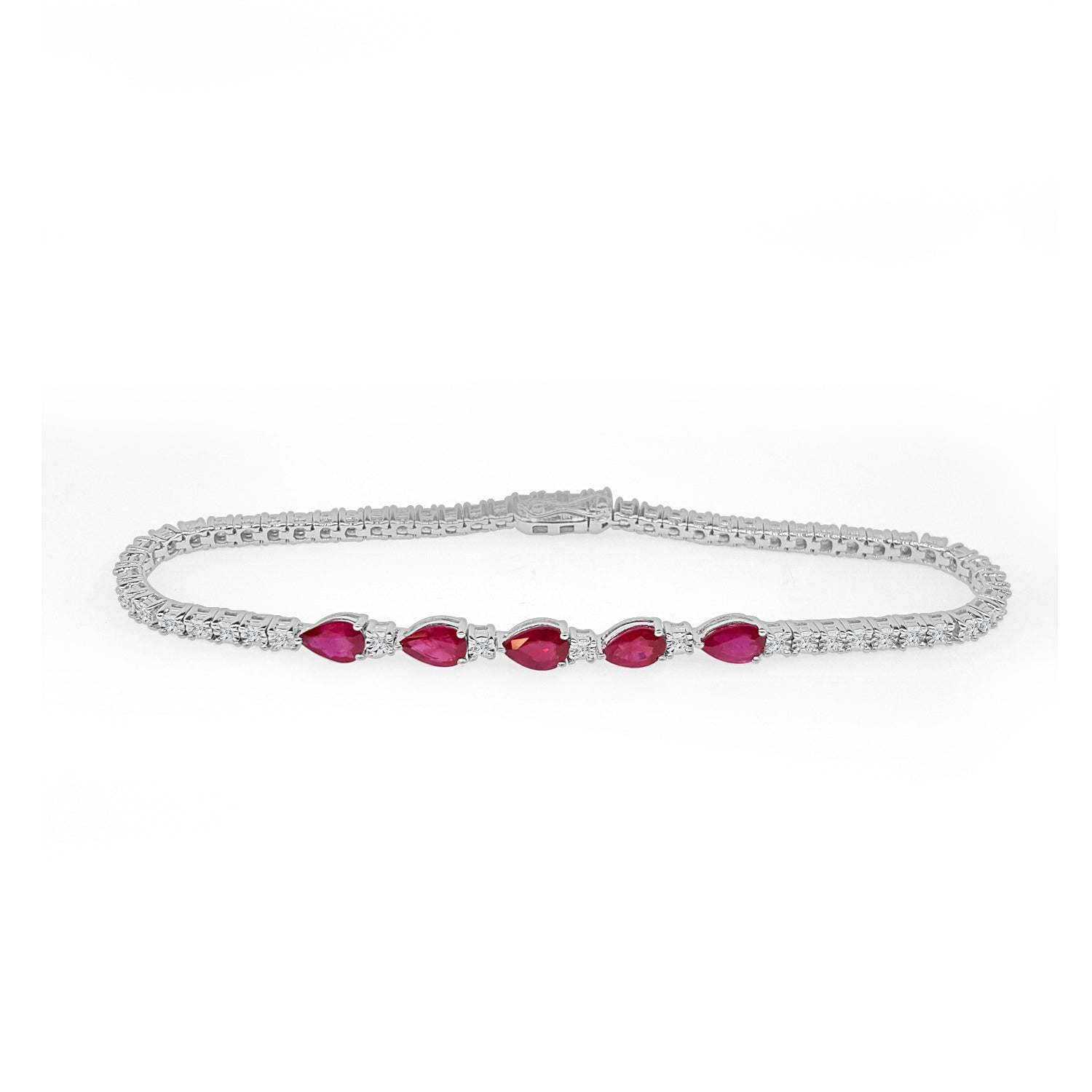 shaped and a products ruby pear bracelet diamond inc j