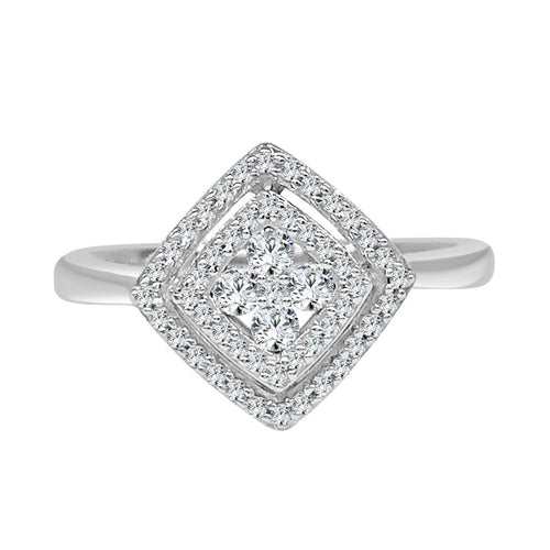 Diamond Shape Cluster Top Ring