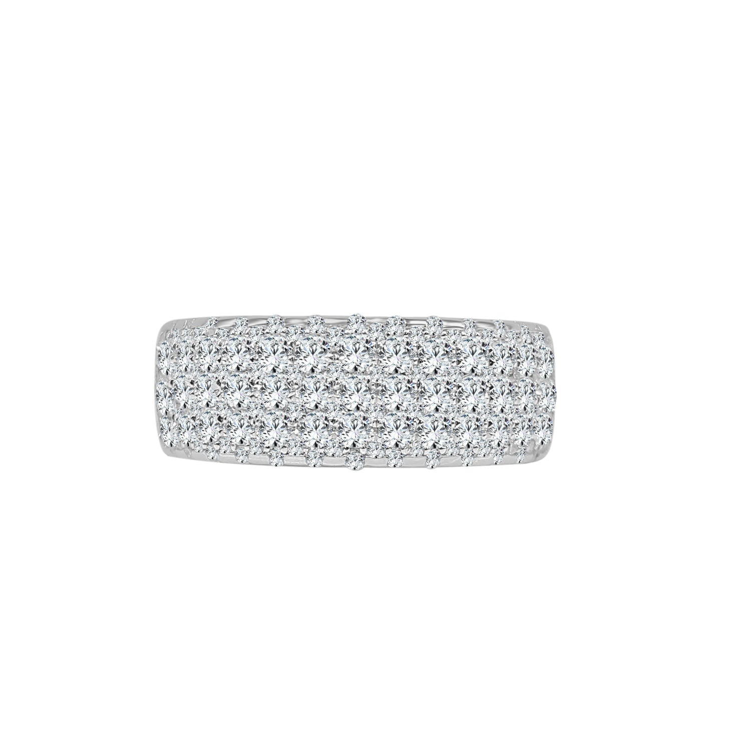 Pave 1.12 Carat Diamond Fancy Wide Ring