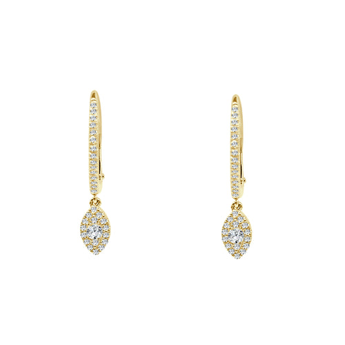 Shy Creations Diamond Pave Marquise Drop Earrings