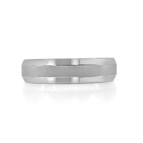 Beveled Edge Tungsten Carbide Band