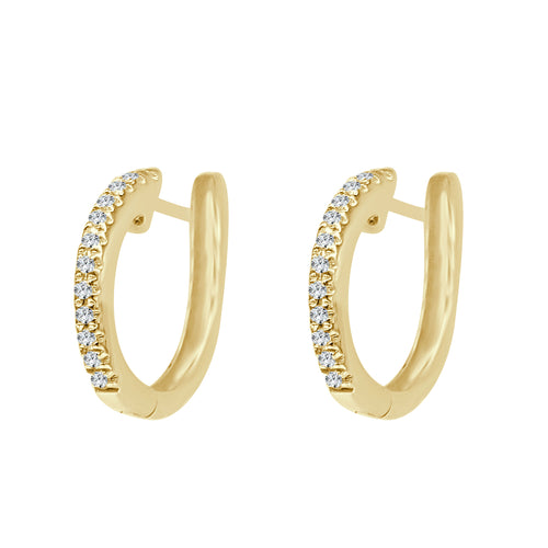 Shy Creations Mini Diamond Hoop Earrings In Yellow Gold