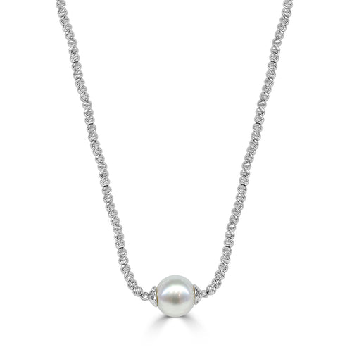 Brilliance Bead Necklace With Single Pearl