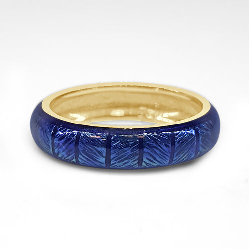 Hidalgo Blue Enamel Patterned Band