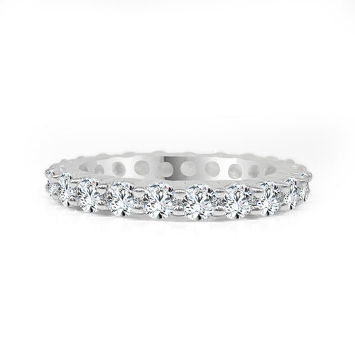 Two Carat Prong Set Diamond Eternity Band