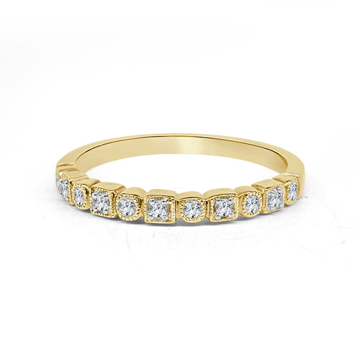 Square And Round Diamond Fancy Band