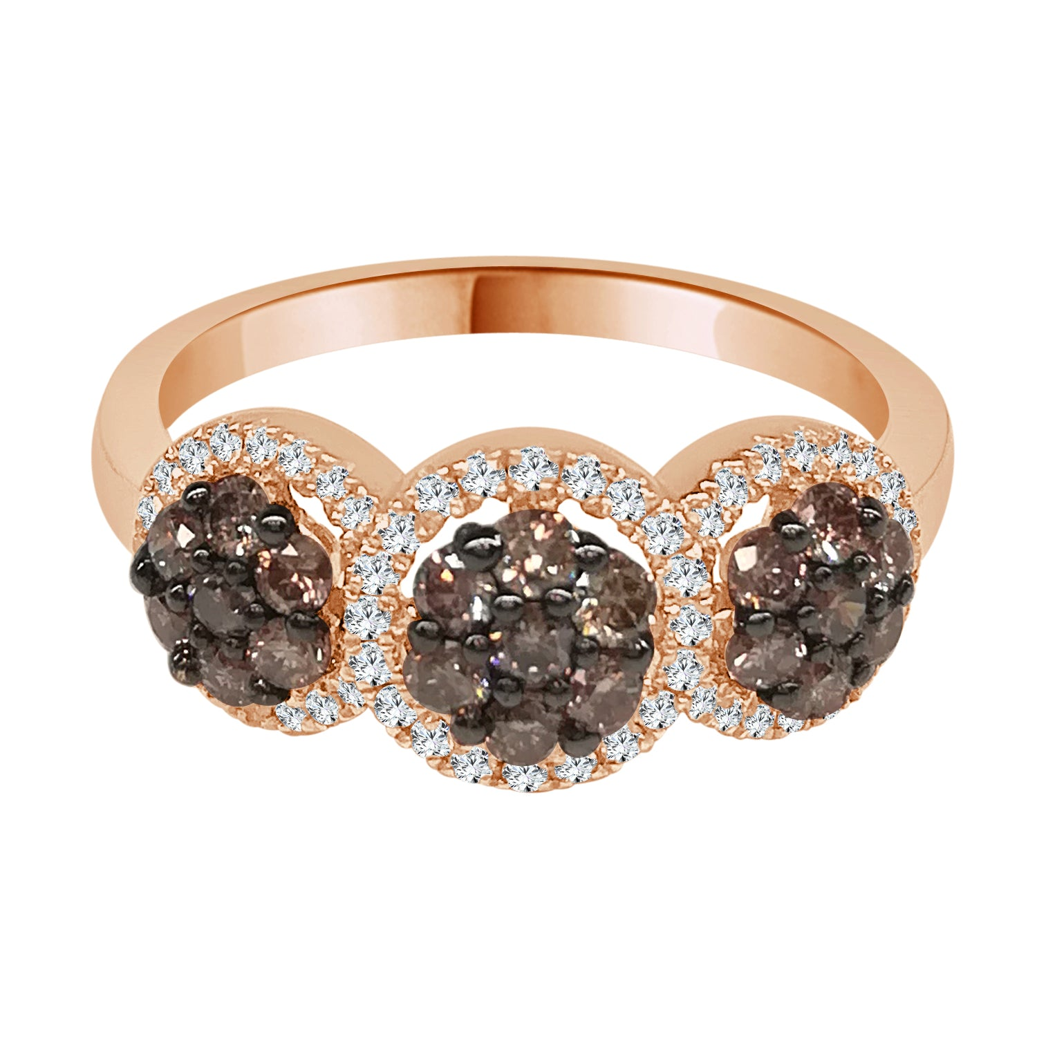14 Karat Rose Gold 0.19 Carat Diamond Ring