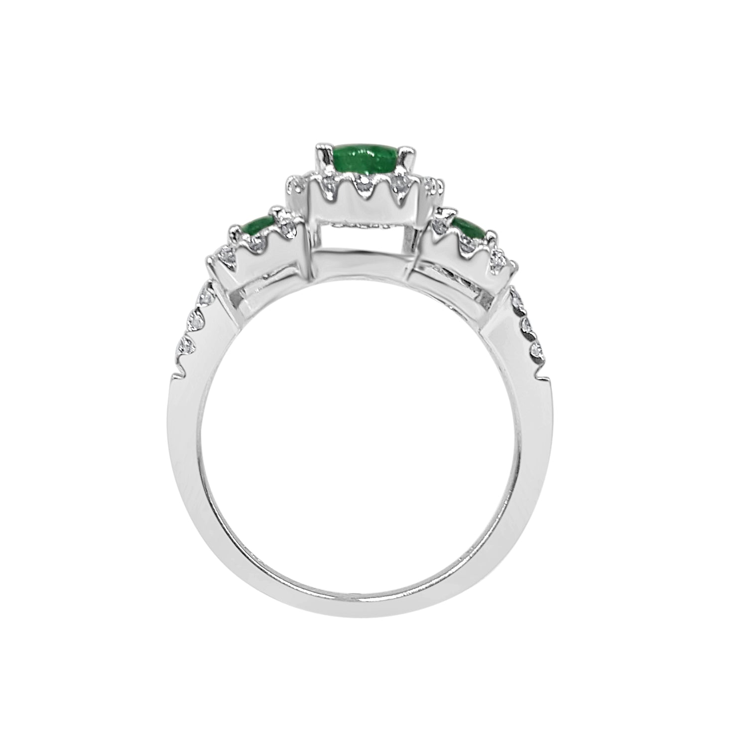 14 Karat White Gold 1.30 Carat Emerald Ring