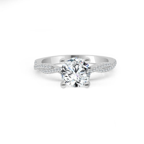 Fana Solitaire With Diamond Twist Band