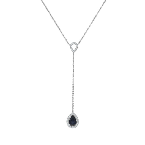 Pear Shaped Sapphire Y-necklace