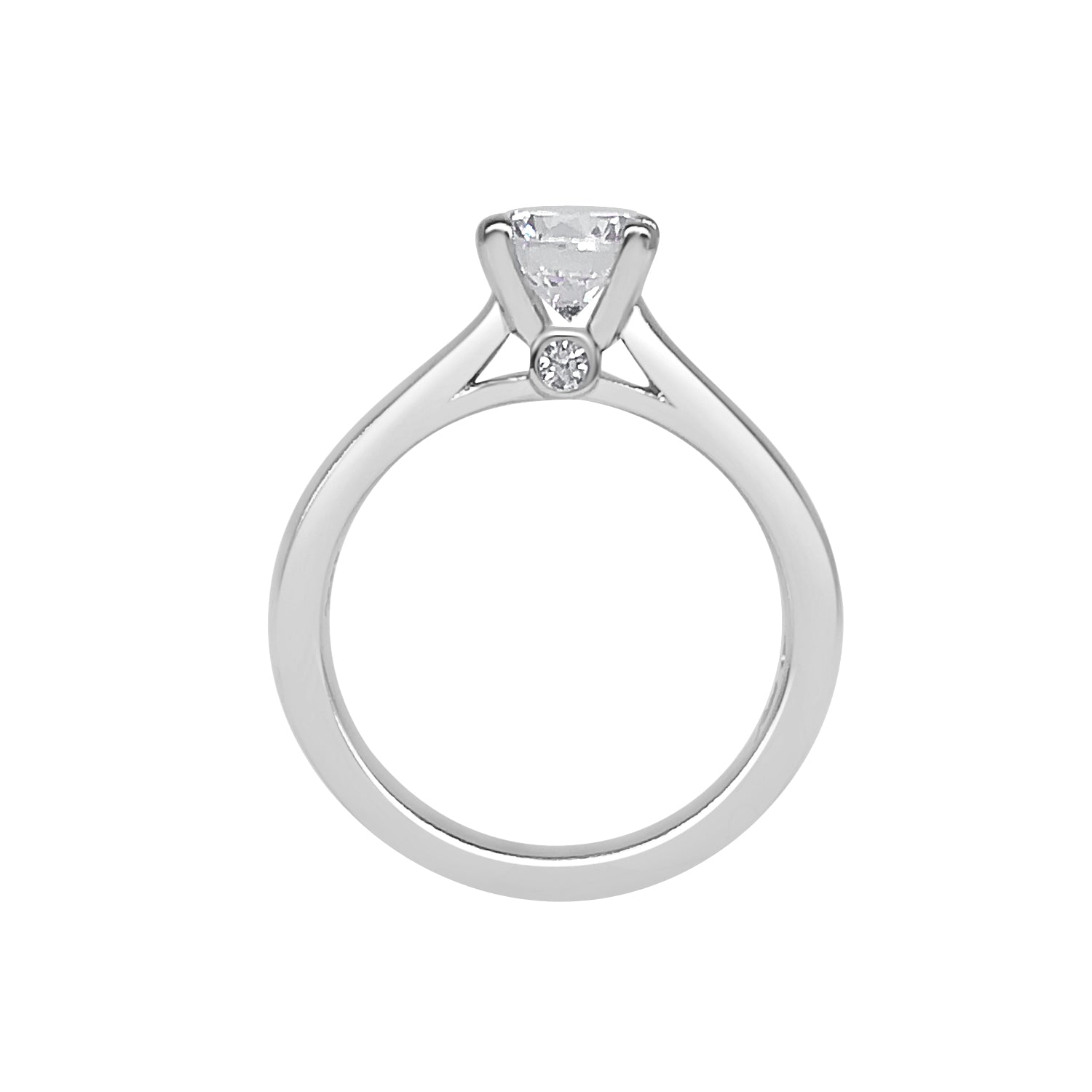 Fana Polished 14 Karat White Gold Solitaire Engagement Mounting