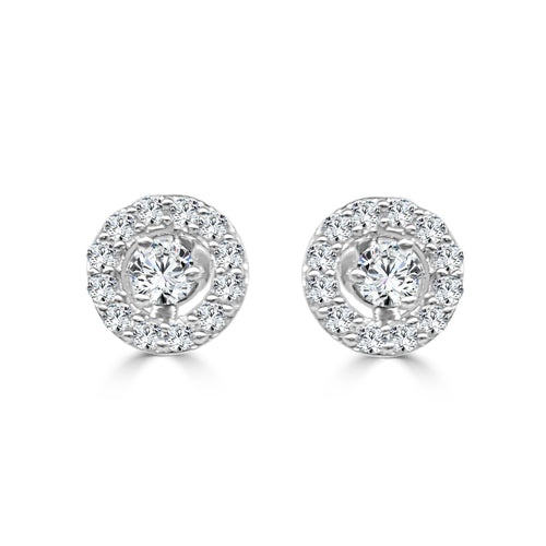 Round 0.33 Carat Diamond Earring Jackets