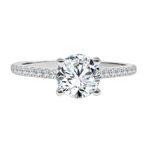 Fana Cathedral Solitaire With Diamond Band