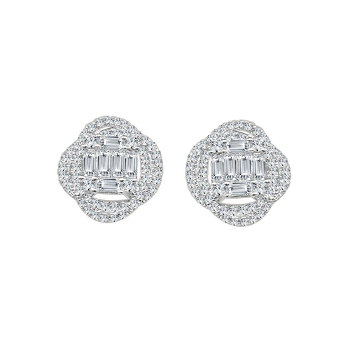 Fancy 1.70 Carat Diamond Stud Earrings