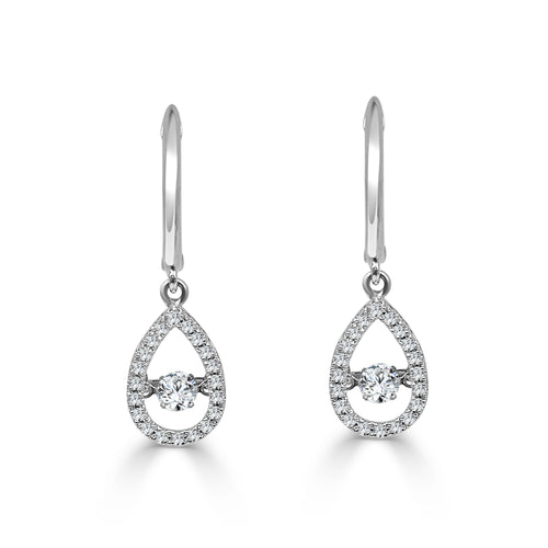 Rhythm Of Love Diamond Drop Earrings
