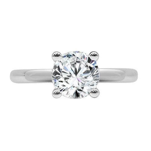 Fana Polished White Gold Solitaire Mounting