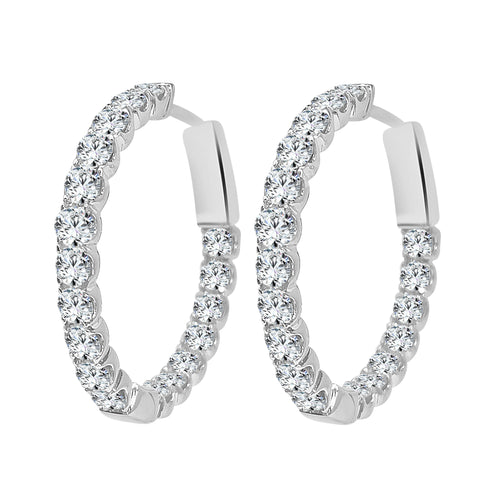 Inside Out 2.45 Carat Diamond Hoop Earrings