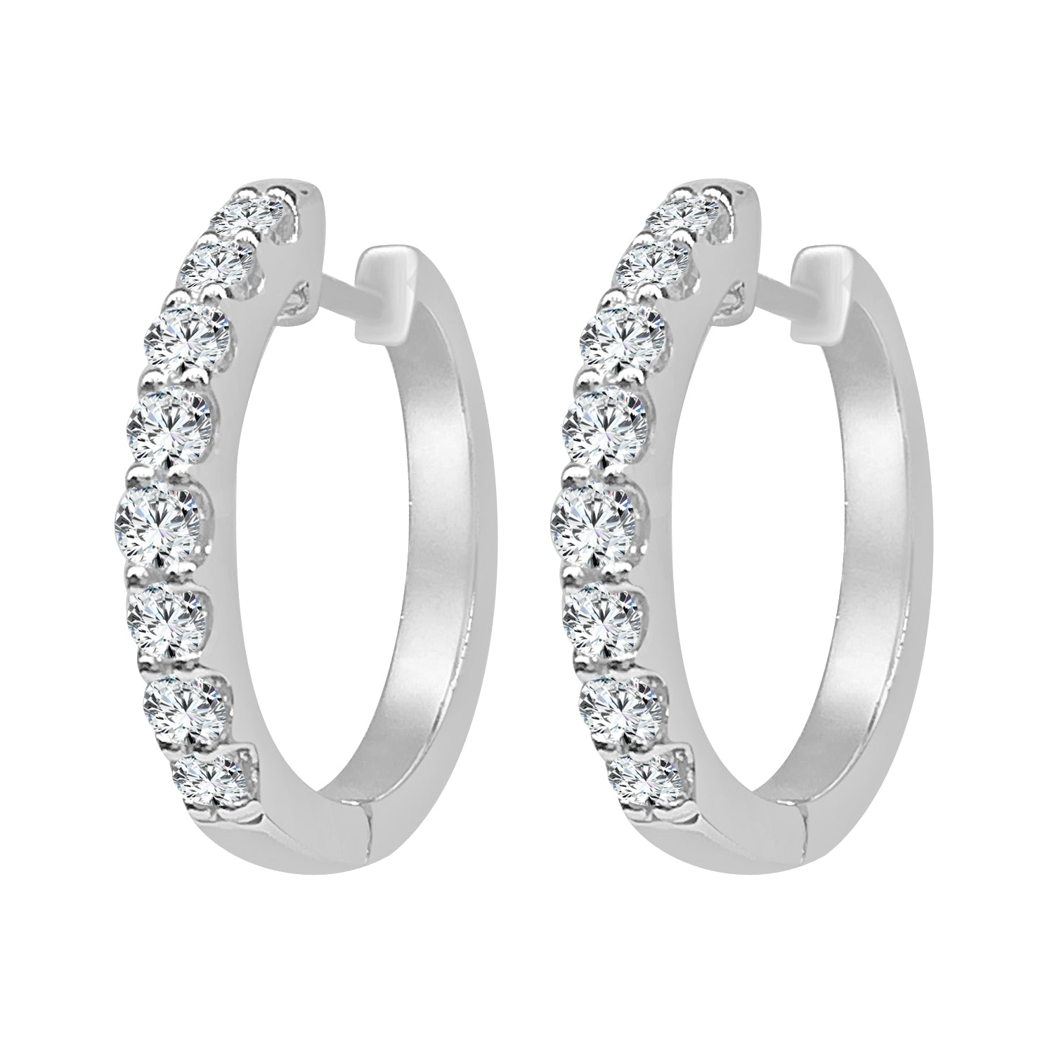 White Gold 1/2 Carat Mini Hoop Earrings