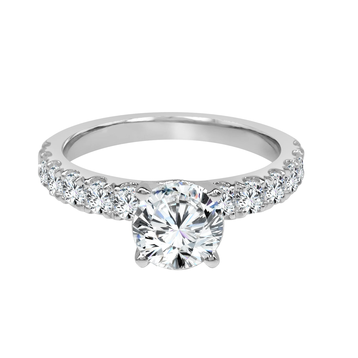 14 Karat White Gold Classic Engagement Mounting