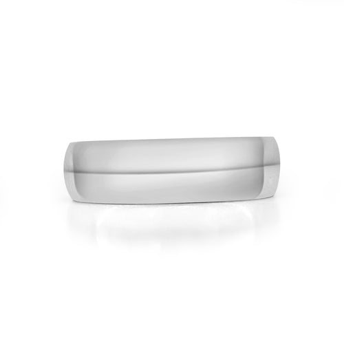 Comfort Fit 6mm White Gold Band