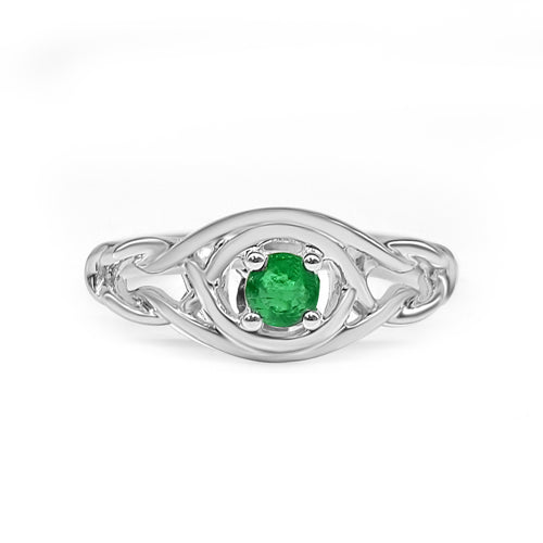 Emerald Knot Ring