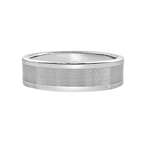 Polished And Satin 6mm Mens Tungsten Ring