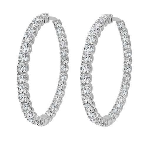 Inside Out 6 Carat Diamond Hoop Earrings