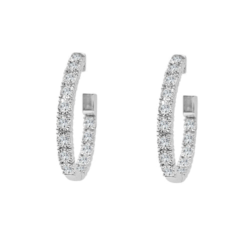 Miracle Set Diamond Hoop Earrings