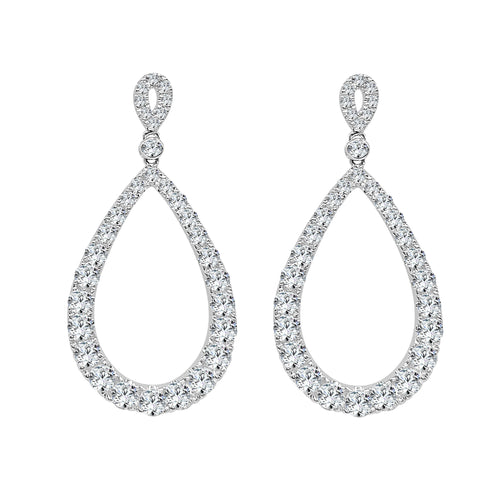 Teardrop 3.40 Carat Diamond Drop Earrings