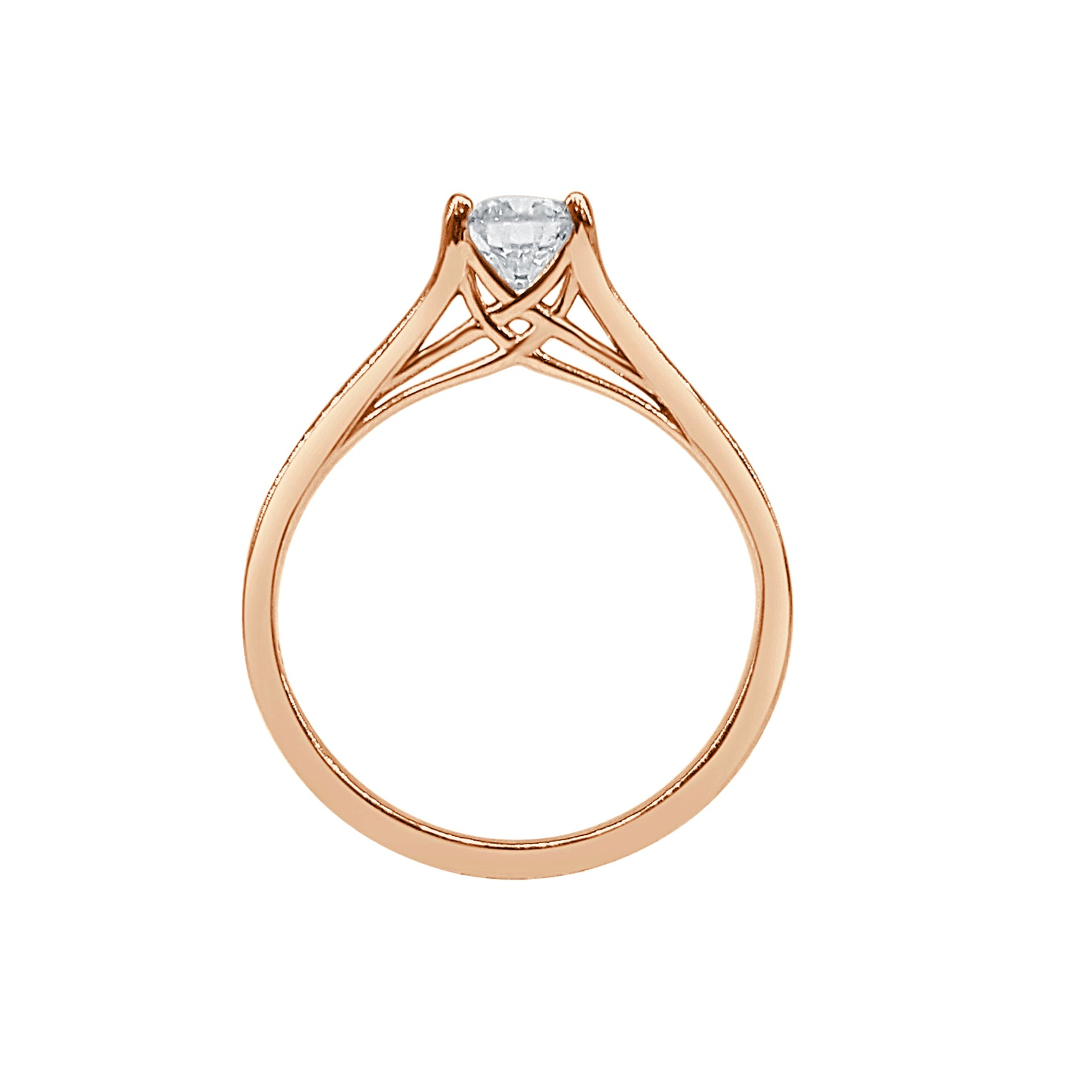 Fancy Rose Gold Solitaire Ring