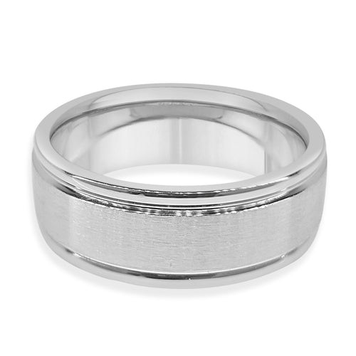 Tungsten Brushed Inlay Band