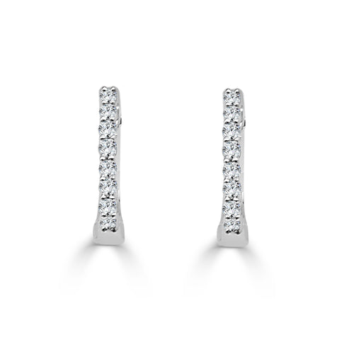 Diamond 0.15 Carat Hoop Earrings
