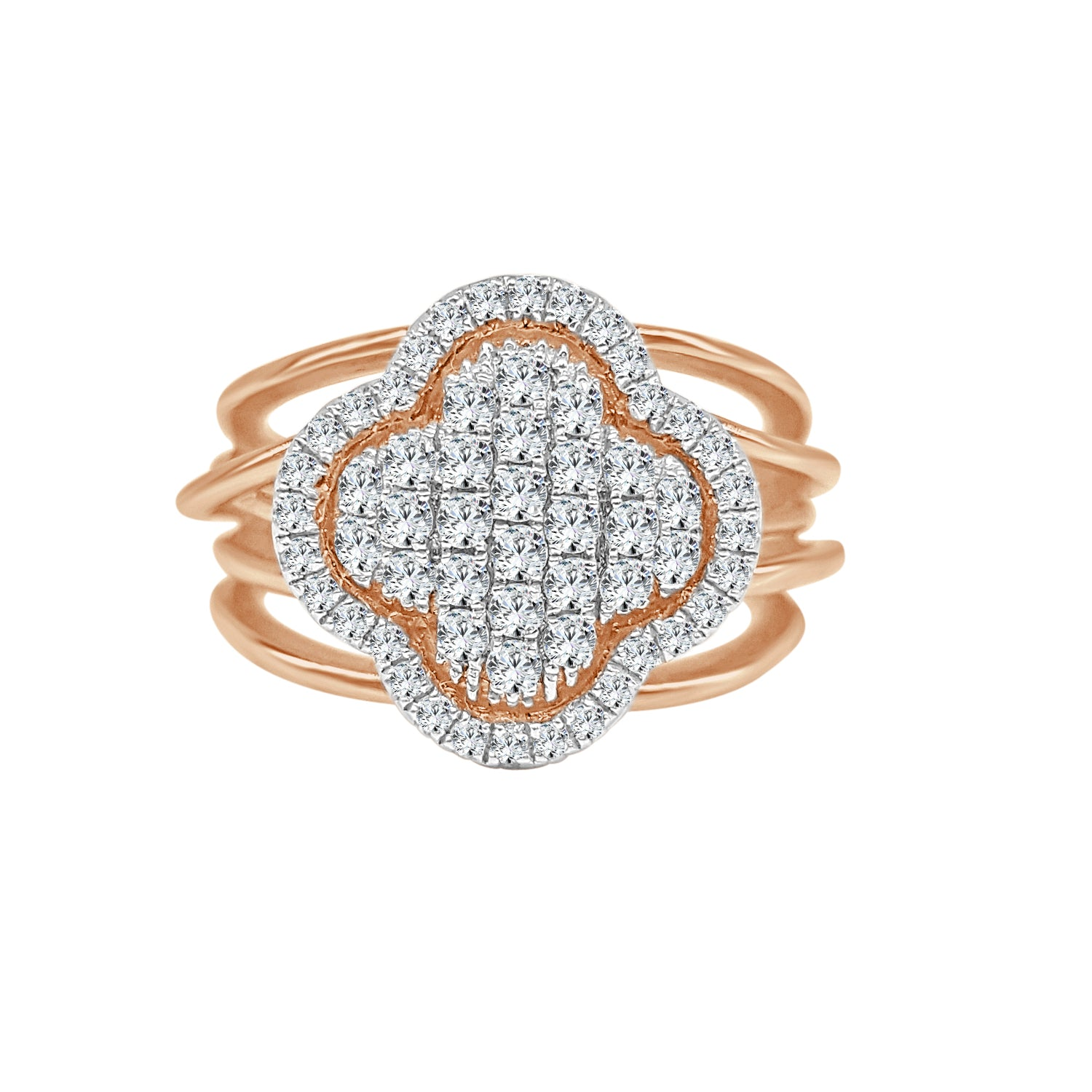 Fancy Clover Diamond Cluster Ring