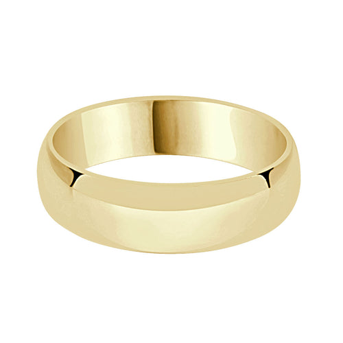 Comfort Fit Gold 6mm Band