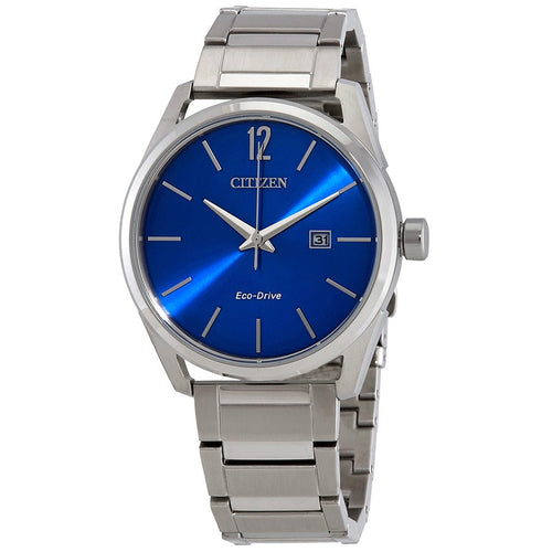 Citizen Mens Ecodrive Blue Dial and Mineral Crystal