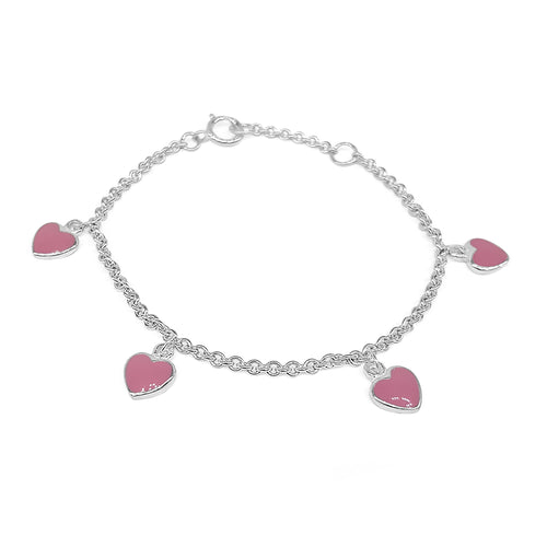Enamel Heart Childrens Bracelet