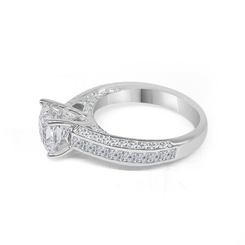 Triple Sided Diamond Channel Band