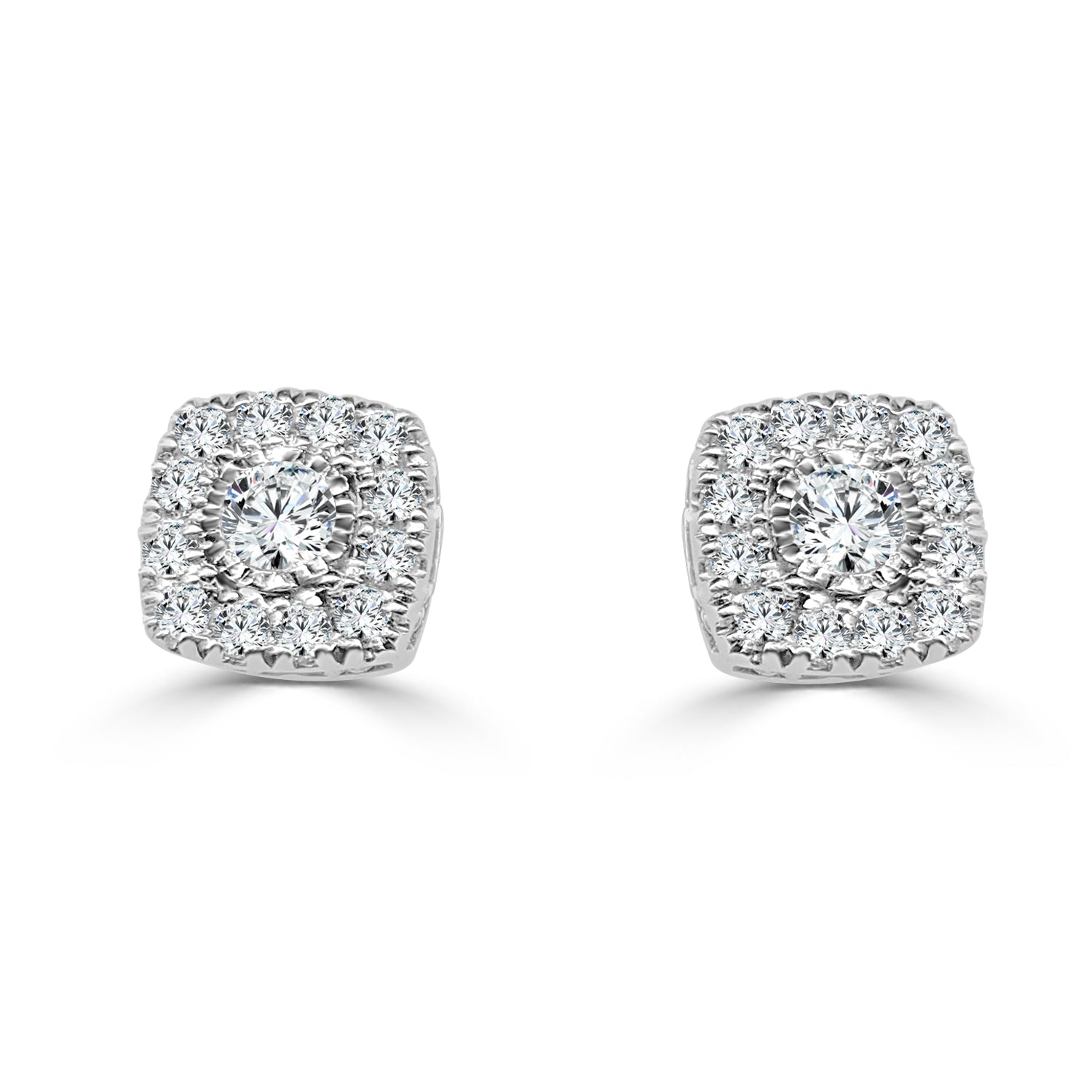 stud square earrings diamond encore jewelry tacori