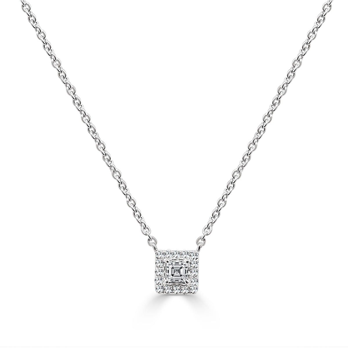 prong sml four necklace princess products markdown halo off diamond pendant final cut