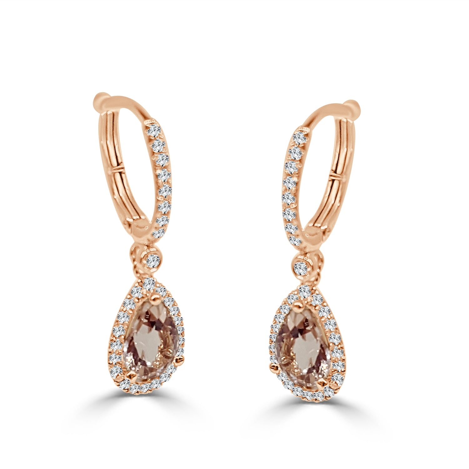 pear earrings andaaz gold jewelers products shaped
