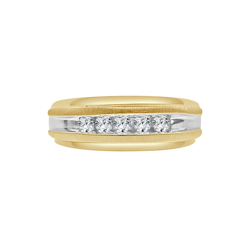 Gents Quarter Carat Diamond Two-tone Ring