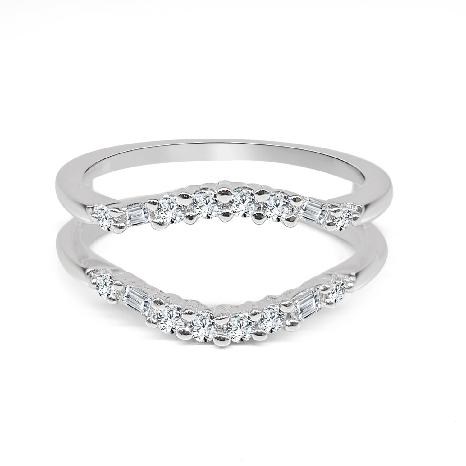 Curved Diamond Enhancer Ring