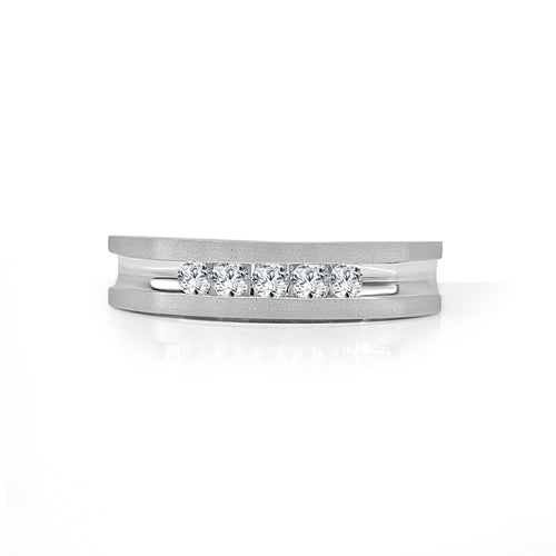 Mens Quarter Carat Diamond Band With Satin Finish