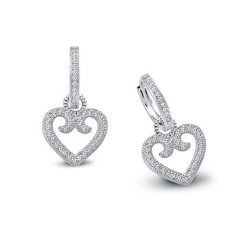 Lafonn Fancy Heart Dangle Earrings