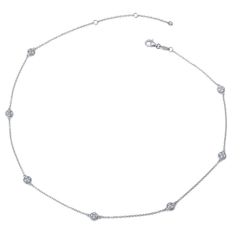 Lafonn Multi Station Pave Dot Necklace
