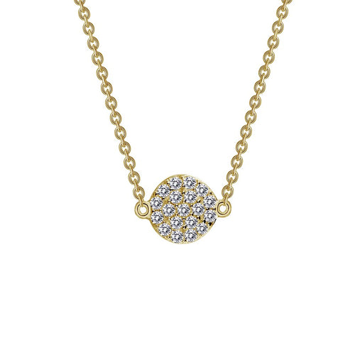 Lafonn Yellow Single Station Pave Dot Necklace