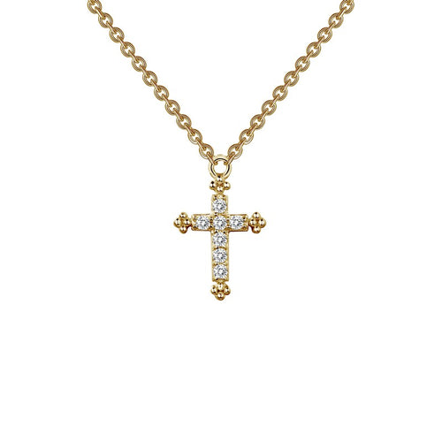 Lafonn Gold Tone Cross Necklace