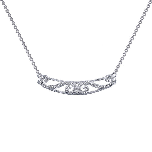Lafonn Filigree Bar Necklace