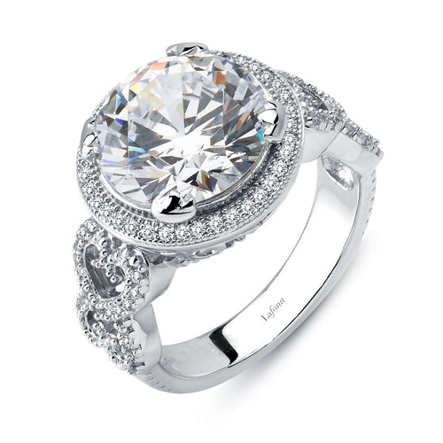 Lafonn Round Simulated Diamond Fancy Halo Ring