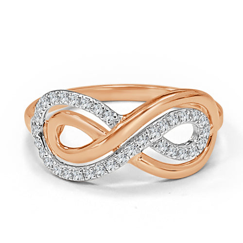 Rose Gold And Diamond Infinity Ring